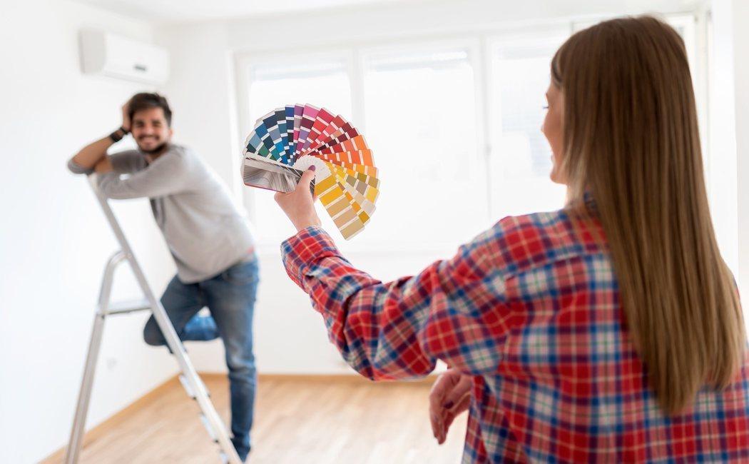Gama de colores para pintar paredes