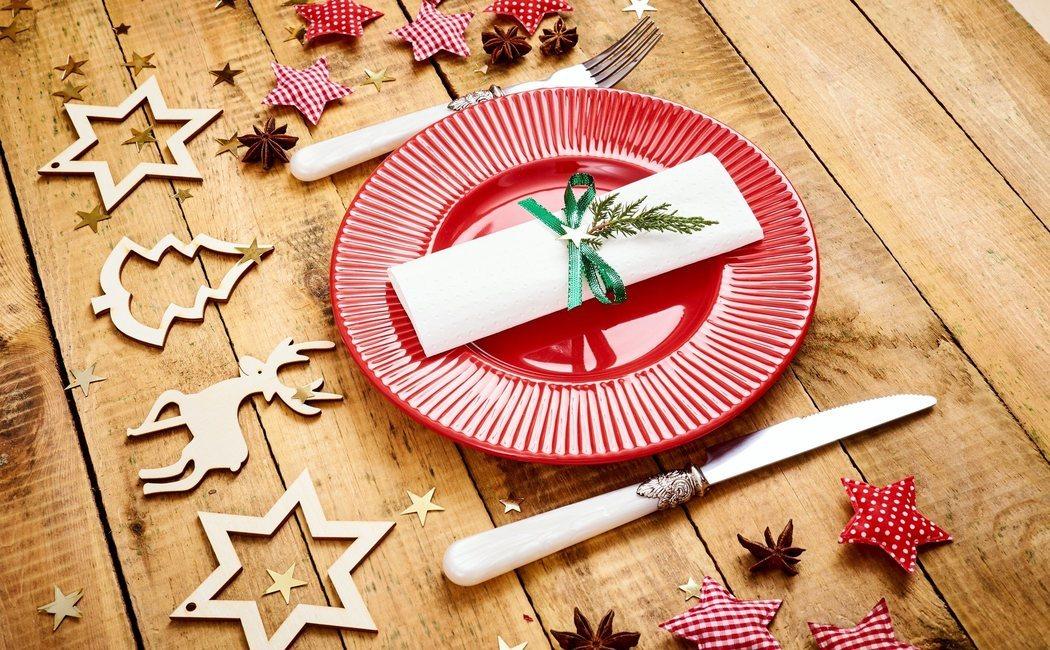 Vajillas en Navidad