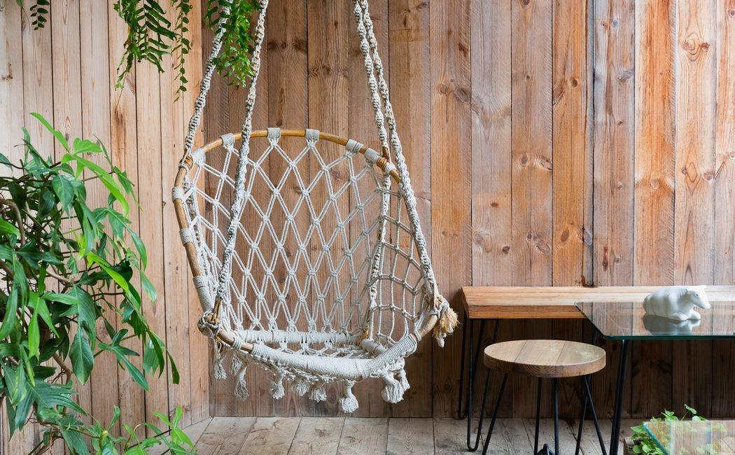 Cómo hacer una silla colgante de macramé
