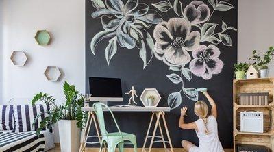 Cómo hacer una pared de pizarra decorativa
