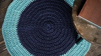 Cómo hacer una alfombra de croché
